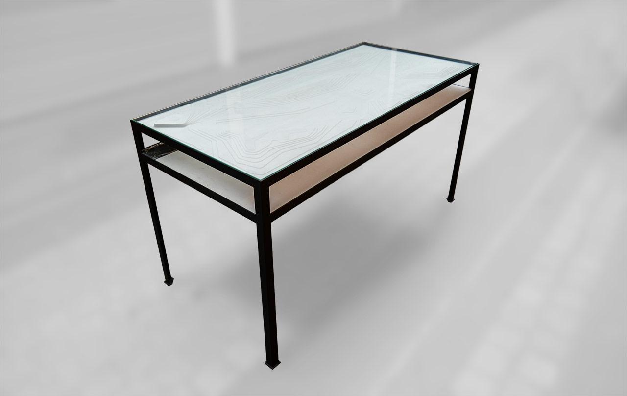 Bureau en marbre avec tiroirs wilshire by visionnaire design steve