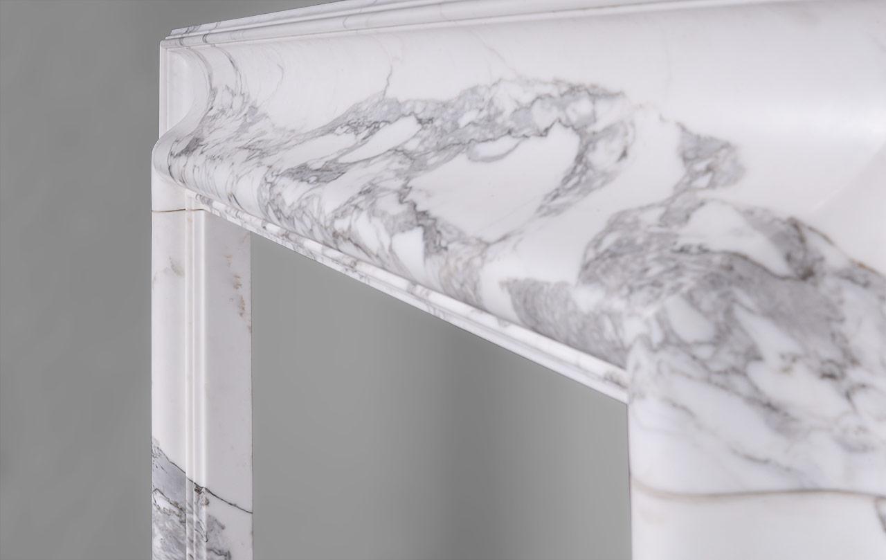 5th avenue chemin e boudin sur mesure en marbre blanc calacatta de style louis xiv. Black Bedroom Furniture Sets. Home Design Ideas