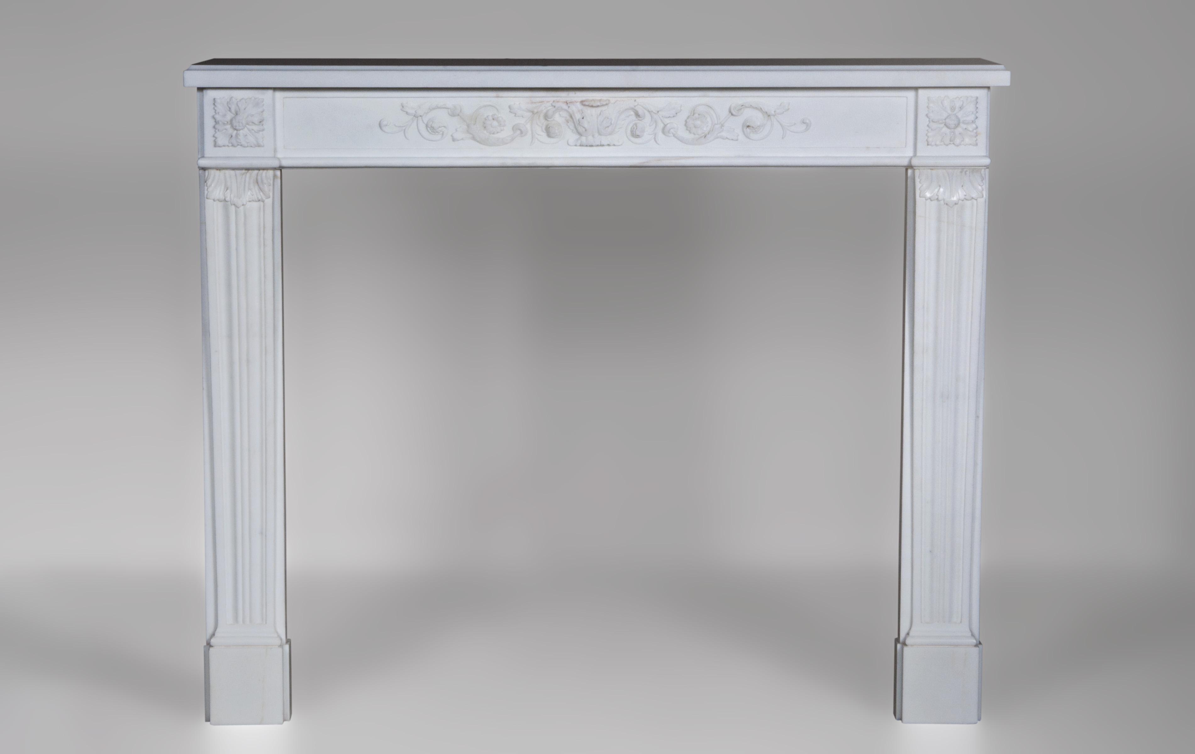 marquis de condorcet chemin e de style louis xvi d cor de rinceaux v g taux en marbre de. Black Bedroom Furniture Sets. Home Design Ideas